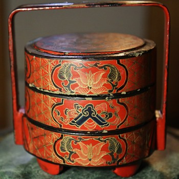 Chinese Laquer Lunchbox - Tiffin - Asian