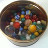 Vintage Tin of Marbles