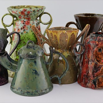 Colorful Contemporary Pots   - Pottery