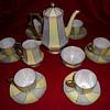 My lovely Bohemian lustreware coffee set.