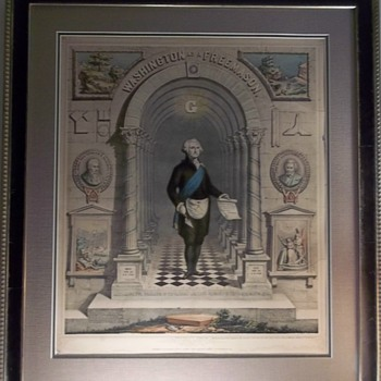 George Washington  As Freemason - Fine Art