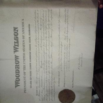 president document award  - Paper
