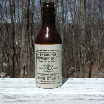 Stoneware bottle - Sterling Ginger Beer - Bottles