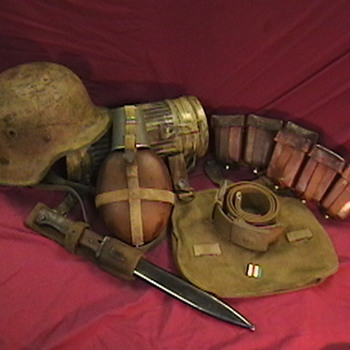 WW II German Tropical Web Equipment