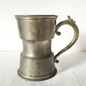 Unusual Shape Pewter Tankard with Hallmarks