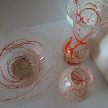 Non-perfect trio of schaumglas - Art Glass