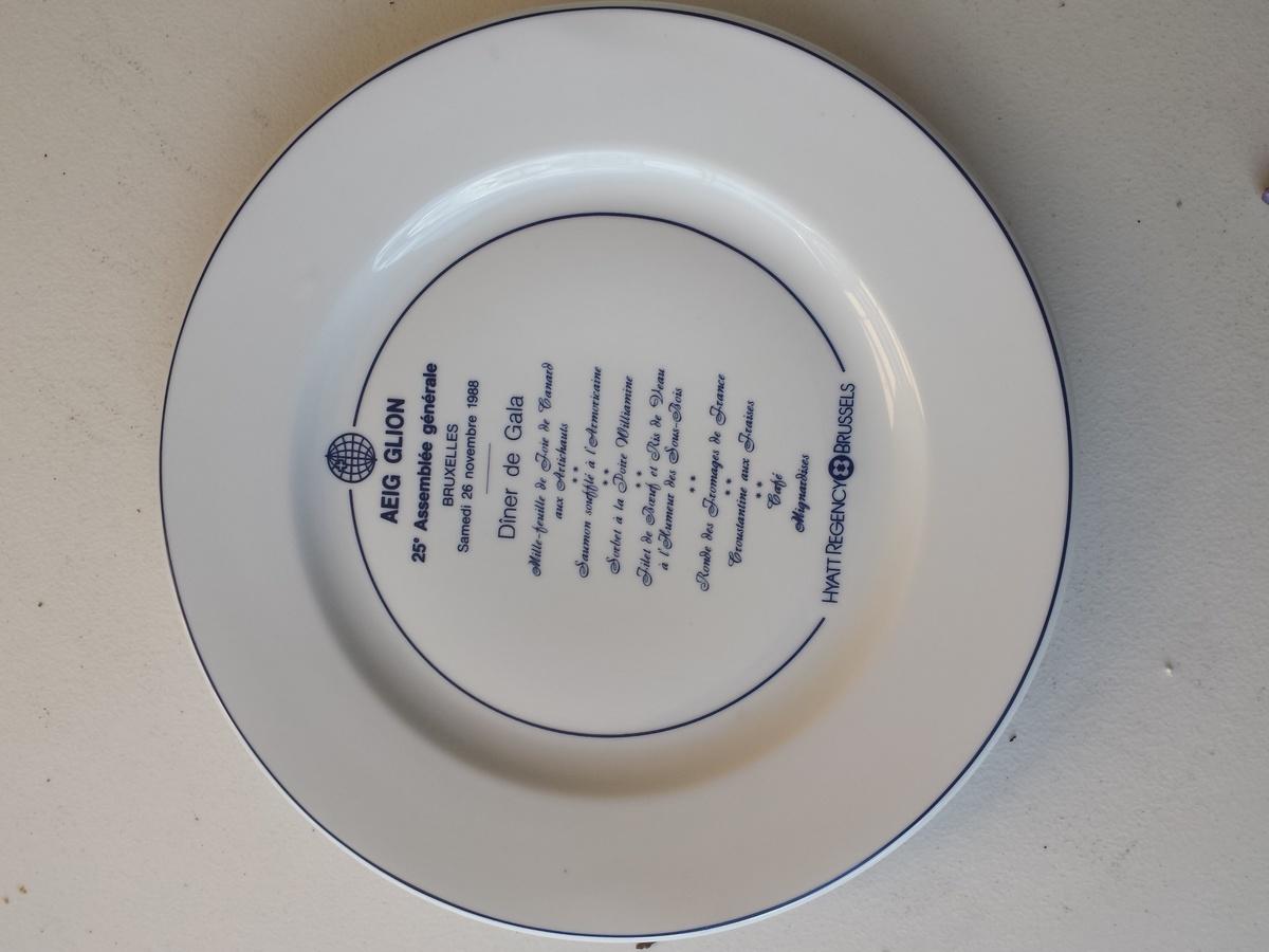 & Hyatt Regency hotel plate | Collectors Weekly