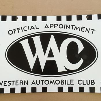 Western Automobile Club - Signs