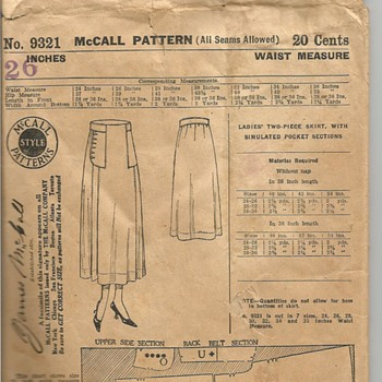 James McCall Pattern 9321