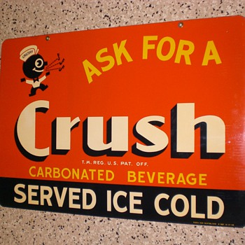 Orange Crush Sign  - Signs
