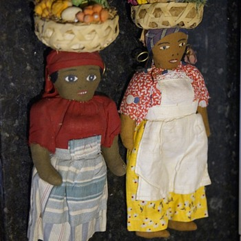 ANTIQUE VINTAGE DOLLS - SOUTH AMERICAN? OR CARIBBEAN? AFRICAN? - Dolls