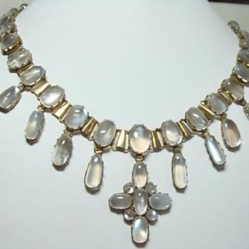 Antique Moonstone Pendant Necklace