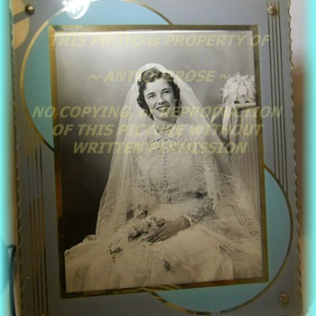 Art Deco ~ GLASS ~ Picture Frame