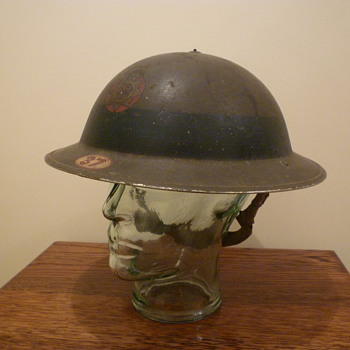 British WWII Chief Fire Officer steel helmet.