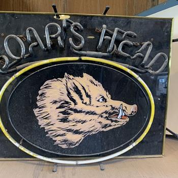 Vintage Boar's Head Neon 25w x 19h - Signs