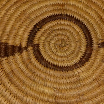 Abstract design woven in basketI