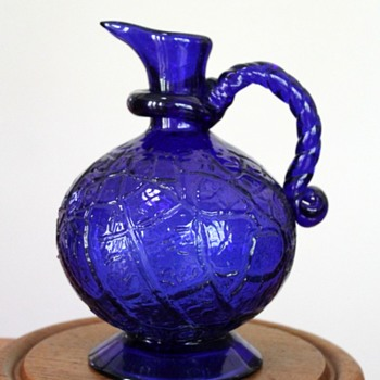 Taisho style glass pitcher, Japan - Art Glass