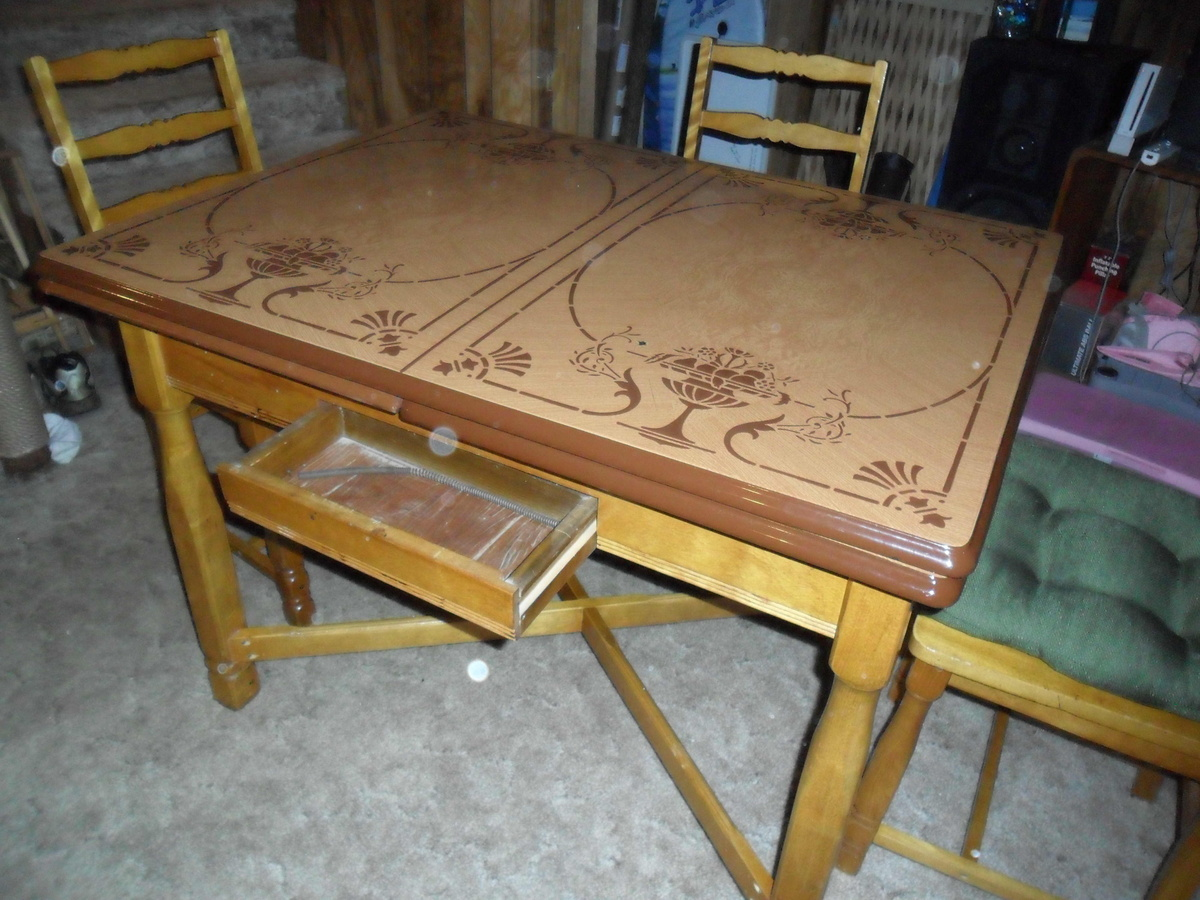 vintage metal top kitchen table | collectors weekly