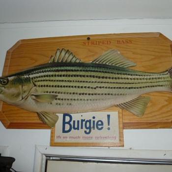 Burgie  North American Sportfish cardboard signs