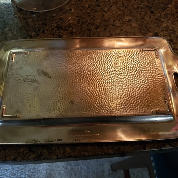 Silver Colored Serving Tray - Silver