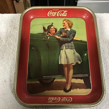 Coca Cola tray 1942  - Coca-Cola