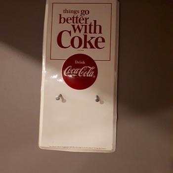 1964 Coca cola calendar sign - Advertising