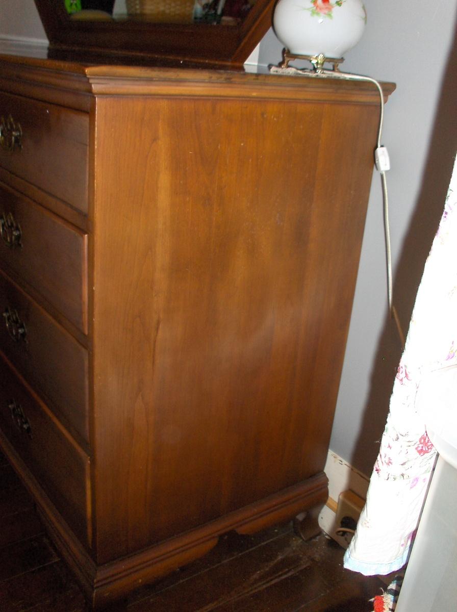 Continental Furniture North Carolina Vintage Dresser Cherry Wood