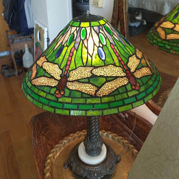 Tiffany style dragonfly lamp with - Lamps