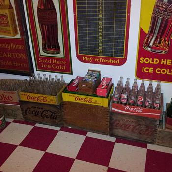 Yellow Plastic Coke Crate - Coca-Cola