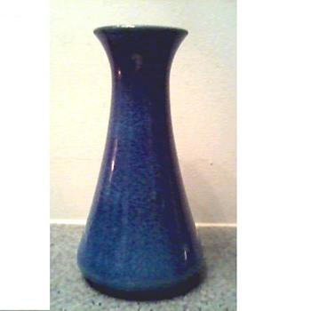 "Cobridge-Moorcraft Stoneware England  8"" Vase/ Blue Drip Glaze/ Circa 1999 - Pottery"