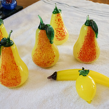 Murano Glass Fruit - Art Glass