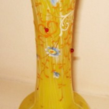 Loetz iridescent trumpet vase - Art Glass