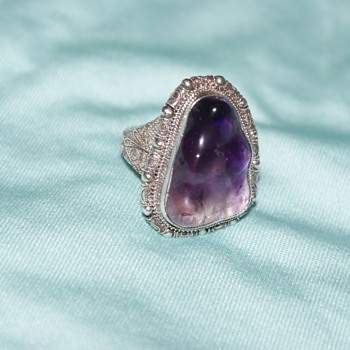 Vintage Chinese (?) Amethyst Ring - Fine Jewelry