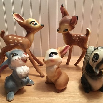 Evan K. Shaw Bambi Set - 1946 - Figurines