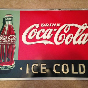 1930's Coke Tin Sign - Coca-Cola