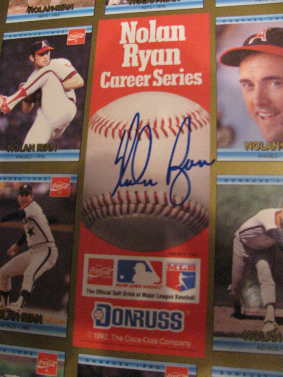 A Signeduncut Sheet Of Baseball Cards By Coke