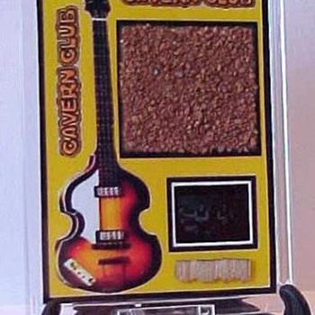 Piece of Cavern brick and a piece of the Cavern stage!!! - Music Memorabilia