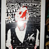 Rare Vintage 1986 Samuel Beckett's Krapp's Last Tape with Rick Cluchey Theatre Card Poster By JAN SAWKA Vintage Framed