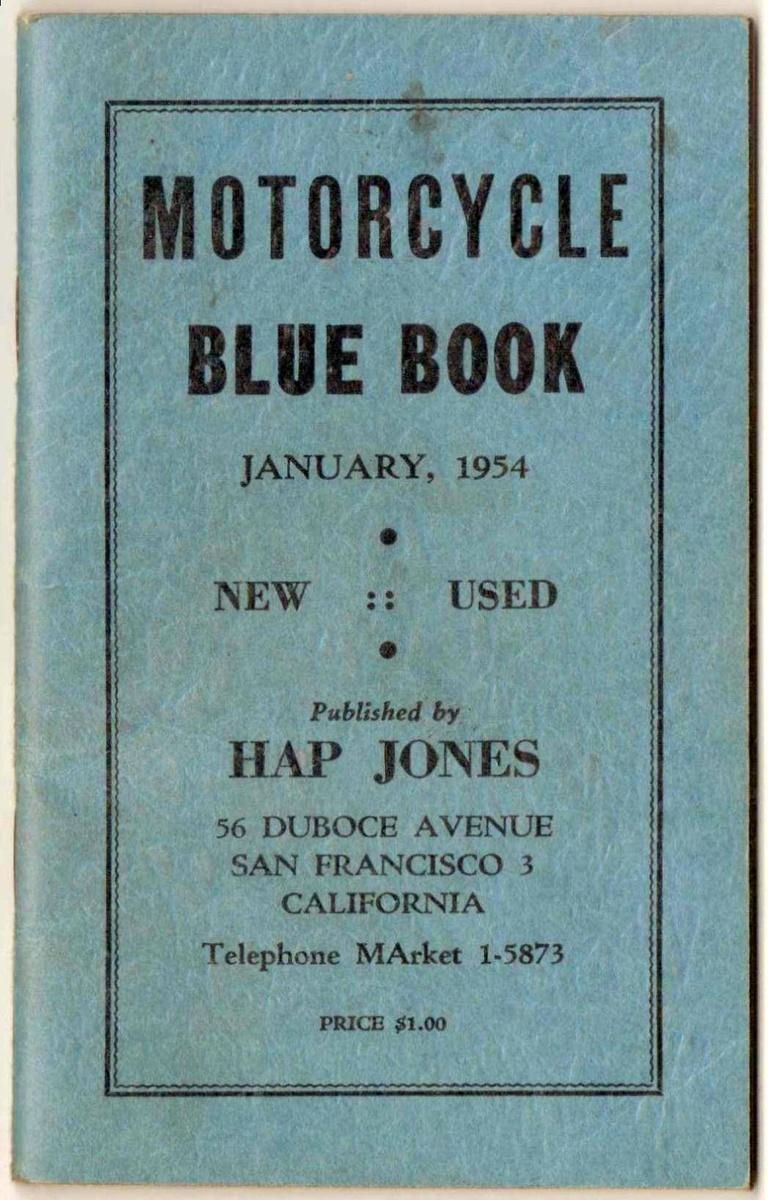 1953 1955 Hap Jones Motorcycle Blue Books Collectors Weekly