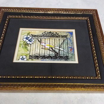 ENAMEL ARTWORK BIRD CAGE - Fine Art