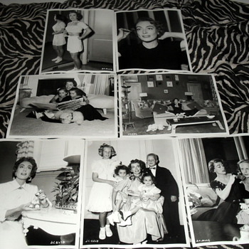 Lot of original candid photos of Joan Crawford and her family  - Photographs