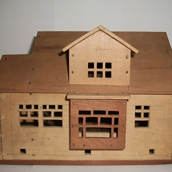 Cigar Box Folk Art Houses by Charles Cole of Racine Wisconsin collection Jim Linderman - Folk Art