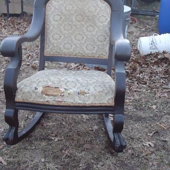 Grandma's rocking chair and loveseat