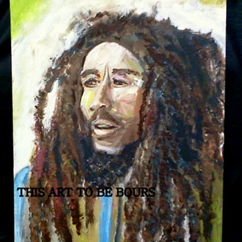 "Bob Marley, original, acrylic painting on 12"" x 16"" x 1"" gallery canvas."