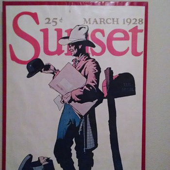 sunset magazine march 1928