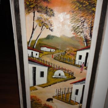 Oil on Canvas Farm Scene - Fine Art