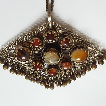 Indian Pendant Amulet - Costume Jewelry