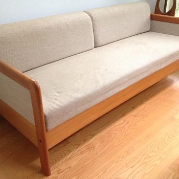 My parent's infinitely practical sleeper sofa.