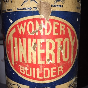 """Wonder Tinkertoy Builder"" Made in U.S.A. - Toys"