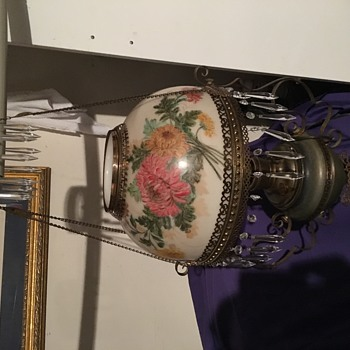 Victorian Hand Painted Chandelier - Lamps